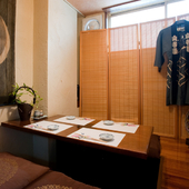 接待やビジネスの場にもふさわしい、落ち着いた個室を完備