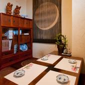 接待・会食に、5名様まで利用できる掘りごたつの個室を完備