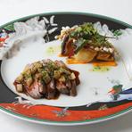 シャラン産 鴨胸肉のオーブ焼き 秋風