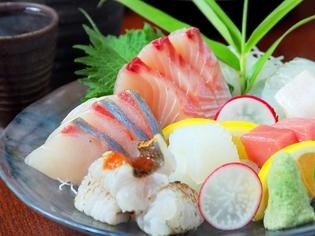 お造りで魚のおいしさを心ゆくまでご堪能ください