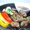 旬野菜と中落ちカルビのサイコロステーキ