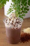 ココア、クリーム、チョコソース、ナッツ