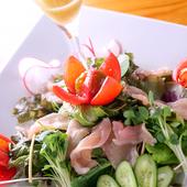 こだわり野菜と新鮮魚でおもてなし