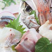 金沢港や能登七尾港・宇出津港などで水揚げされた新鮮な魚介を中心に、その日ごとの選りすぐりの魚でつくる一品。1日に3度(朝・昼・夜)も仕入れているので鮮度の良さが抜群! 刺身を肴にお酒もついつい進みそう。