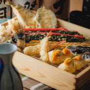 90円、120円、150円、180円、230円、280円のお値段の各種天ぷらを豊富に取り揃えております。お好きなものをご注文ください。