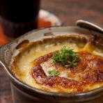 チーズたっぷりオニオングラタンスープ