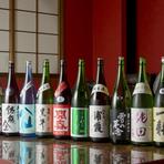 女将が吟味を重ね厳選している『日本酒各種』