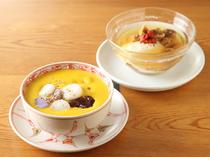 『かぼちゃとあずきのココナッツチェー』、『いちじく桂花の豆腐花』