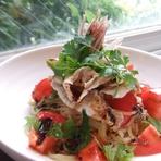 冷シャブとトマトの中華和え麺