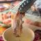 珍しい焼き鳥チーズフォンデュは絶品です!