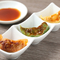 三種の味の違いを楽しめる『餃子セット (三色)』