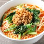 胡麻の香り豊かな、ピリ辛スープが人気『坦々麺』