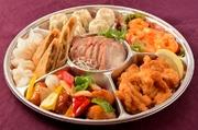 サンラー麺・点心 お新香・杏仁豆腐