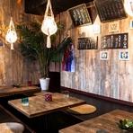 沖縄風のカジュアルデザインのお部屋は沖縄の風を感じられる空間