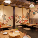 宴会や接待に最適、小上りの洗練された大人の空間