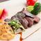 福岡宗像牛のロースステーキと焼き野菜 トリュフ香る香味ソース