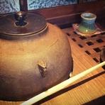 コーヒーや煎茶を煎れる茶釜