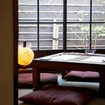 日常を忘れてゆっくりとお過ごしいただける、隠れ家的空間