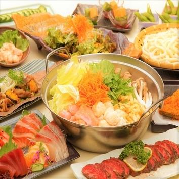 ◆2H飲放×料理9品◆『宴コース』1日3組限定! 4500円⇒3500円