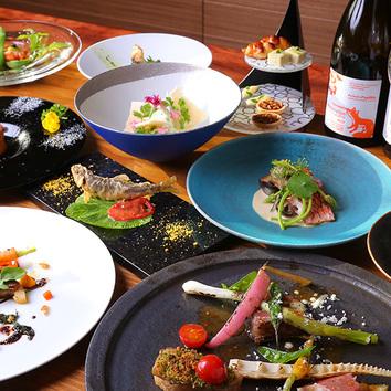 ≪ランチ≫ 野菜と魚介のランチコース [全5品] 4,000円(+税)