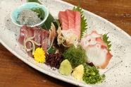 静岡・駿河湾、御前崎の新鮮魚介を堪能。『お刺身盛り合わせ』