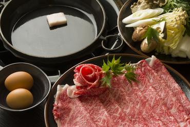 米沢牛のリブロースを使った『米沢牛すき焼きセット』