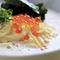 風味豊かなオリジナルソースが決め手『明太子のクリームパスタ カプチーノ仕立て』