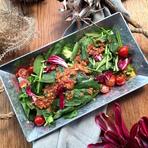 有機ほうれん草たっぷり!栄養満点のシンプルサラダ