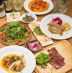 シェフ厳選の食材を使用した全8品のおすすめコース料理です。