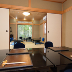 個室や座敷で大切なご接待、本格会席で四季を感じて
