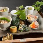 旬の魚介やお野菜を、季節の彩りにあふれた会席料理で