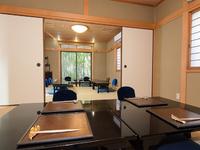 会席料理をゆったりと、落ち着いた空間でお楽しみください