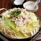 絶妙にブレンドされた4種類の出汁が決め手の『京白味噌の豆乳モツ鍋』