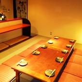 離れの完全個室&堀ごたつの半個室で、歓迎会・送別会を