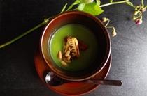 うすい豆と焼き穴子の茶碗蒸し