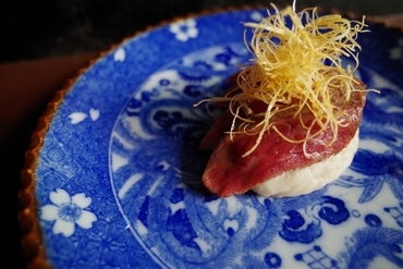 宍粟牛 藁焼き と 小芋のマッシュ