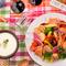 彩り野菜のチーズフォンデュ