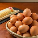 地元岡山の生産農家から仕入れたSK美容卵「夢の卵」を使用