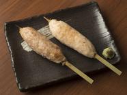 千葉県産水郷赤鶏を使用。シンプルな味付けで鶏本来の旨味を堪能できる、大人向けの『手ごねつくね』