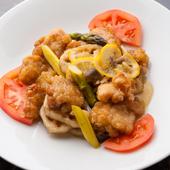 新鮮な旬の野菜と、国内産の厳選した魚介でつくる創作中華