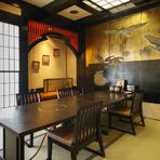 個室から広間まで、多彩な用途にこたえる空間を用意