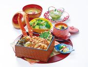+420円でずわい天ぷら3本の特上かに天重ランチもございます。