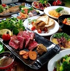 鮮魚のバター焼・や牛ロースステーキ・カキフライなど忘年会や各種宴会にふさわしい内容のお得コース!