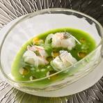 日本の色彩豊かな食材、スペイン料理の技法で旨みを引きだします