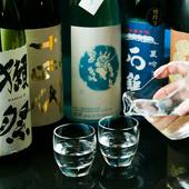 工夫を凝らした創作和食に合わせ、お好みの日本酒を