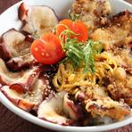 「ふるさと三陸オリジナル丼グランプリ」で最優秀賞を受賞した『タコ丼』