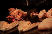 焼きたての魚介類がいただけます