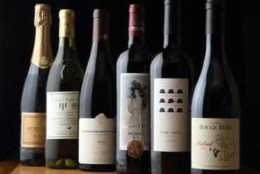 常時、約40種類ほど揃えている、世界各国の様々なワイン