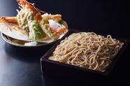 特大の有頭海老の天ぷらが2尾ついた『天せいろ上』