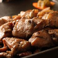 地鶏の岩塩焼き~柚子胡椒~